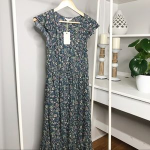 Lucky Brand | Floral Ruffle Felice Dress Size S